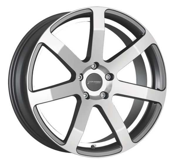 Corspeed Felge CHALLENGE Higloss-Gunmetal-polished - undercut Color Trim weiss 8.5x19 5x112 Lochkreis