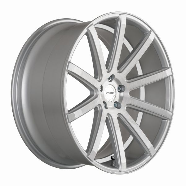 Corspeed Felge DEVILLE Silver-brushed-Surface - undercut Color Trim weiß 10,5x20 5x112 Lochkreis